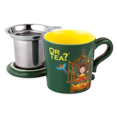 Or Tea? Teetasse Tropicoco, dunkel grün, praktisch mit Teesieb und Deckel