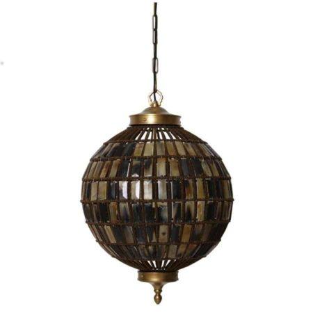 Hängeleuchte CHEMAINE, rund, Metall, Antik-Bronze von Light & Living