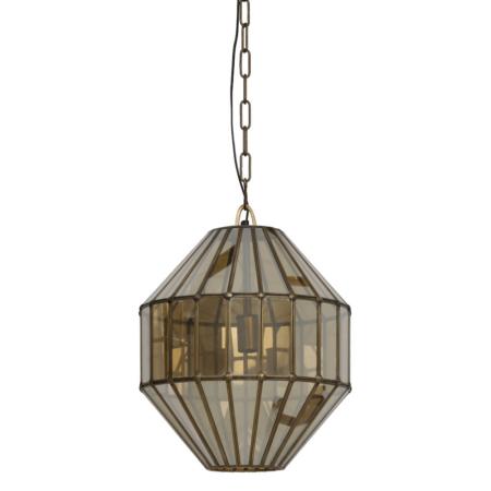 Hängeleuchte VAJENNE Antik Bronze Glas von Light & Living
