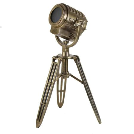 Tischleuchte WILSON, Tripod in antik bronze, Metall von Light & Living