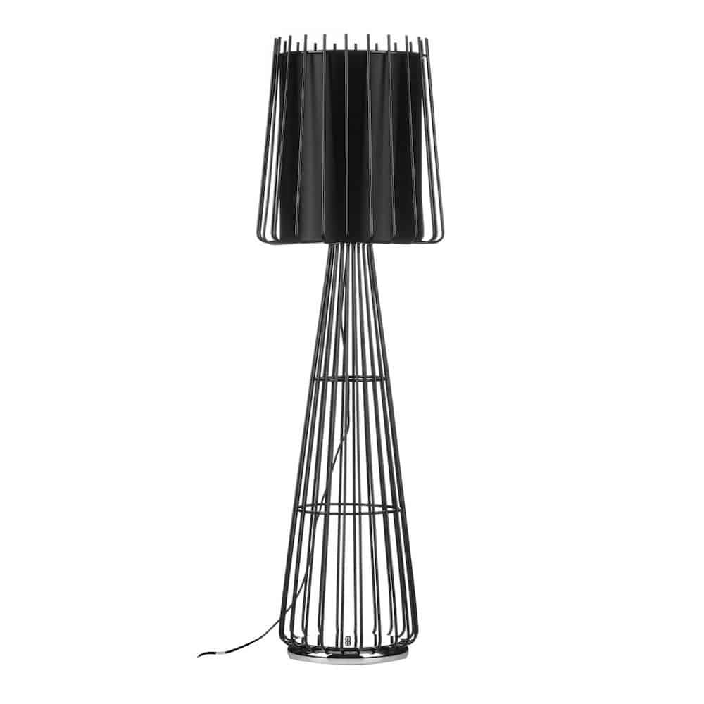 stehlampe aria floor schwarz loft gutraum8 lampe leuchte. Black Bedroom Furniture Sets. Home Design Ideas
