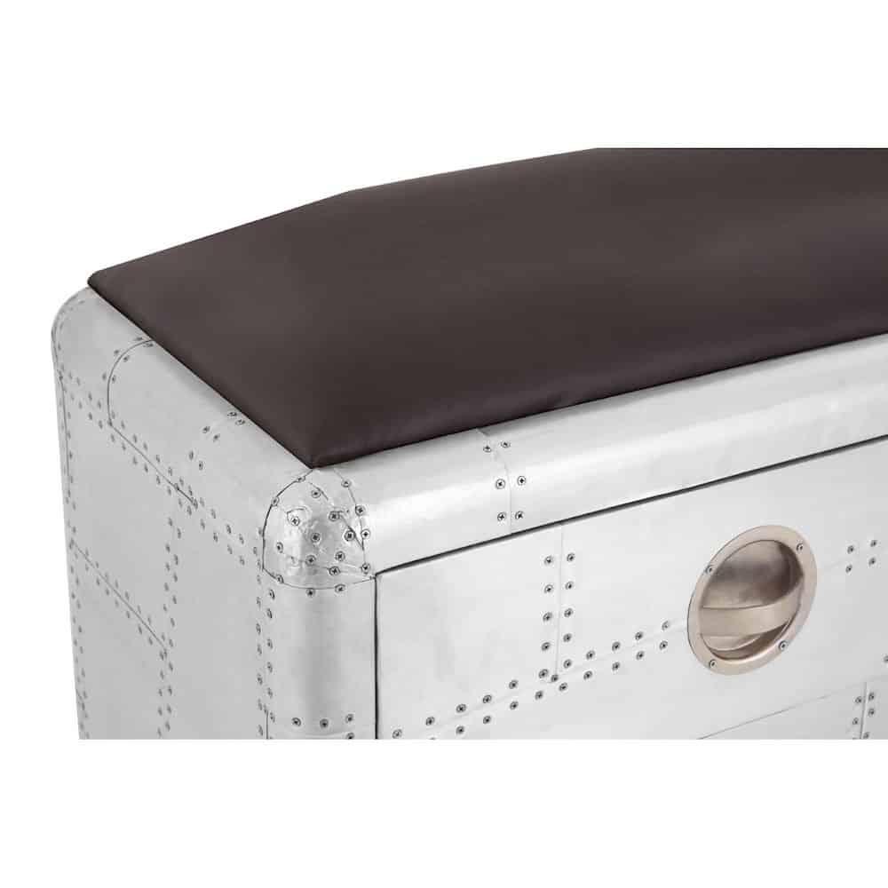 sitzbank aviator mit schubladen fliegerkollektion gutraum8. Black Bedroom Furniture Sets. Home Design Ideas