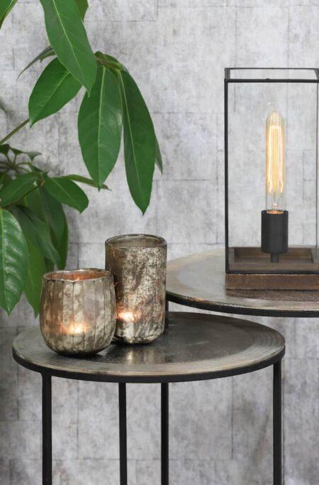 Beistelltisch TALCA, silber rohes Metall im 2er-Set von Light & Living