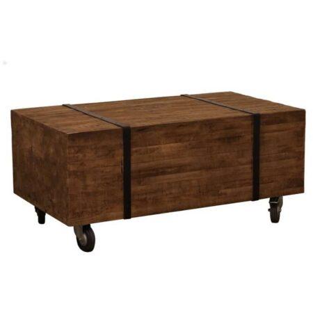Couchtisch LIMARI aus Holz und auf Rädern von Light & Living