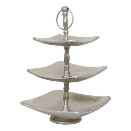 Etagere TONDER, rohes Metall, silber, 3 Ebenen, Light & Living