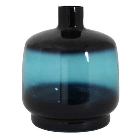 Vase TEQUES blau meliert, aus Glas von Light & Living