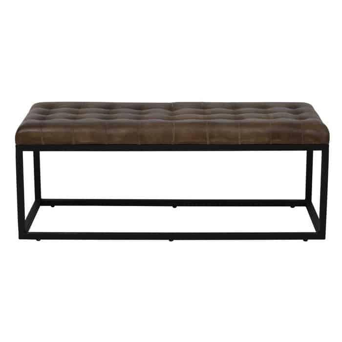 sitzbank sofa flitwick leder braun gutraum8 light living. Black Bedroom Furniture Sets. Home Design Ideas