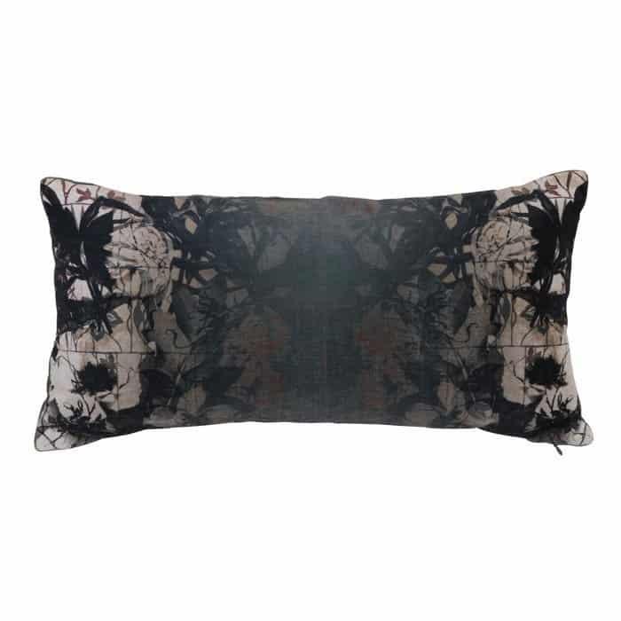 kissen rorschach velvet samt gr n dessin 60x30 cm gutraum8. Black Bedroom Furniture Sets. Home Design Ideas
