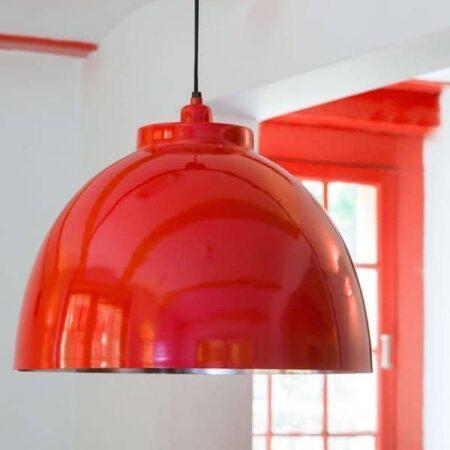 Hängeleuchte KYLIE Rot glänzend von Light & Living