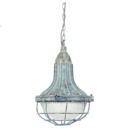 Hängeleuchte QUARRY Blau Vintage Style von Light & Living