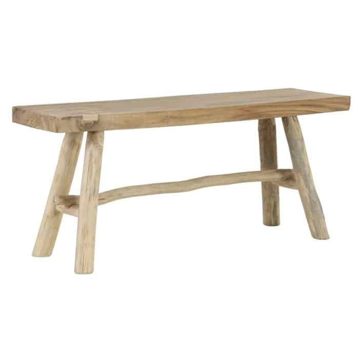 Hocker GAMBY Holz Naturell von Light & Living