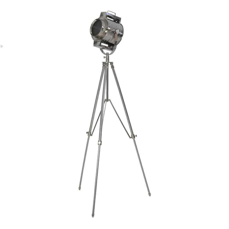 Stehleuchte KYNE, Tripod Dreifuss Gestell in silber von Light & Living