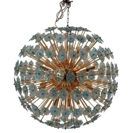 Hängeleuchte VILLA CORA aus Glas & Metall von Van Roon Living