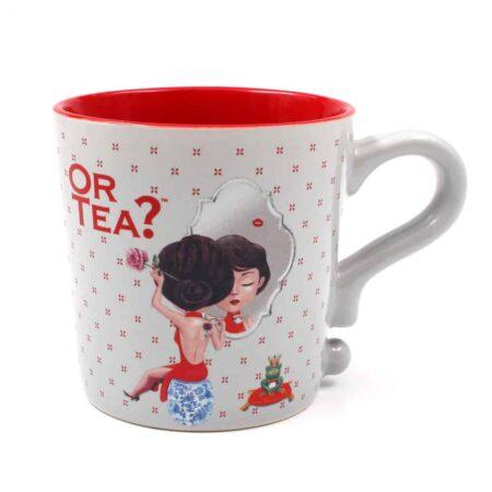 Teetasse Grau - Misty Grey, Or Tea? praktische Teetasse mit Teesieb und Deckel