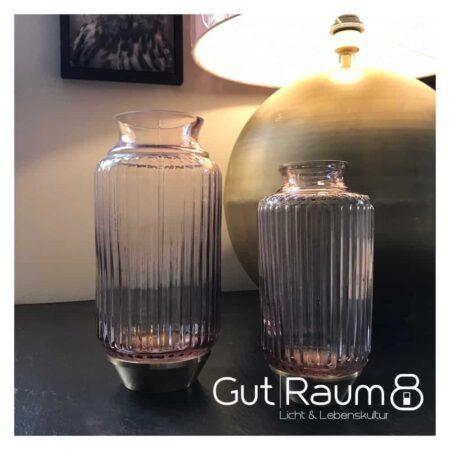 Light & Living Vase aus Glas in rosa