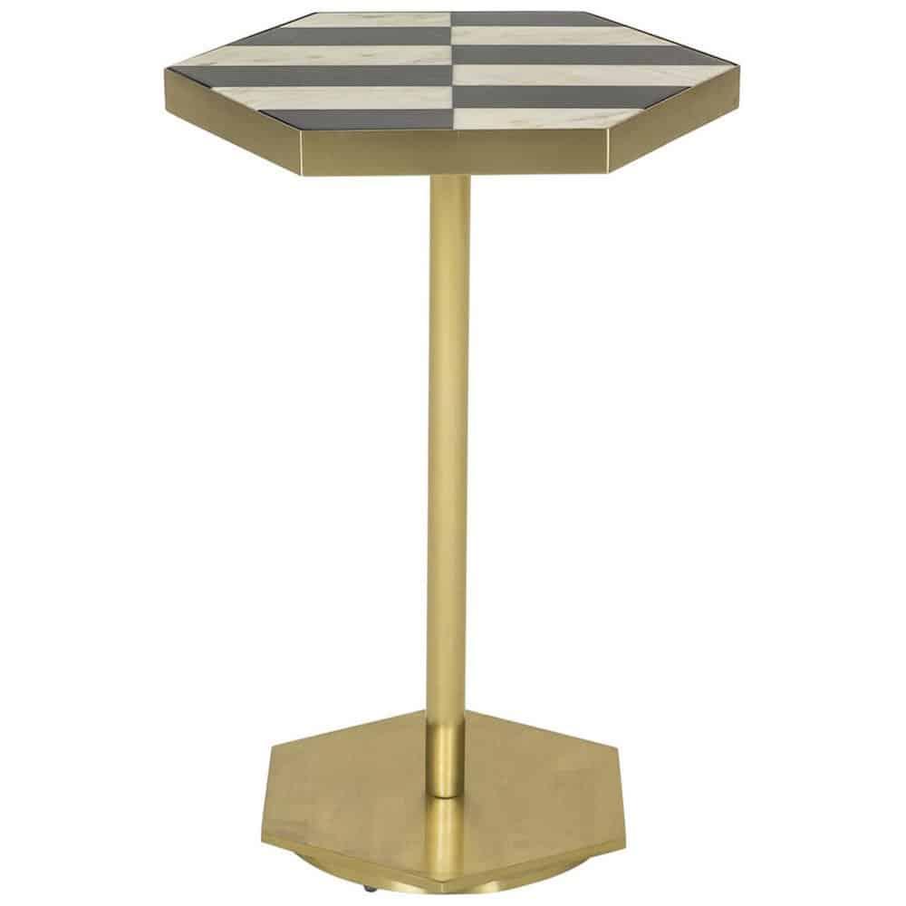 Bistrotisch maddox gold marmor gutraum8 m bel for Marmor bistrotisch