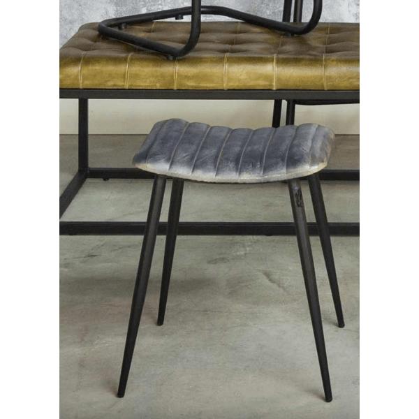 light living hocker lupin leder grau gutraum8. Black Bedroom Furniture Sets. Home Design Ideas