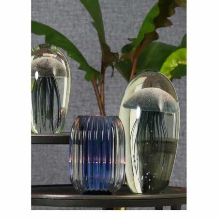 Ornament JELLYFISH Blaue Qualle im Glas von Light & Living