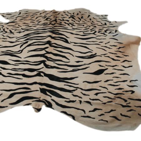 Kuhfell Teppich TIGER naturel