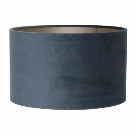 Lampenschirm Velours Blau