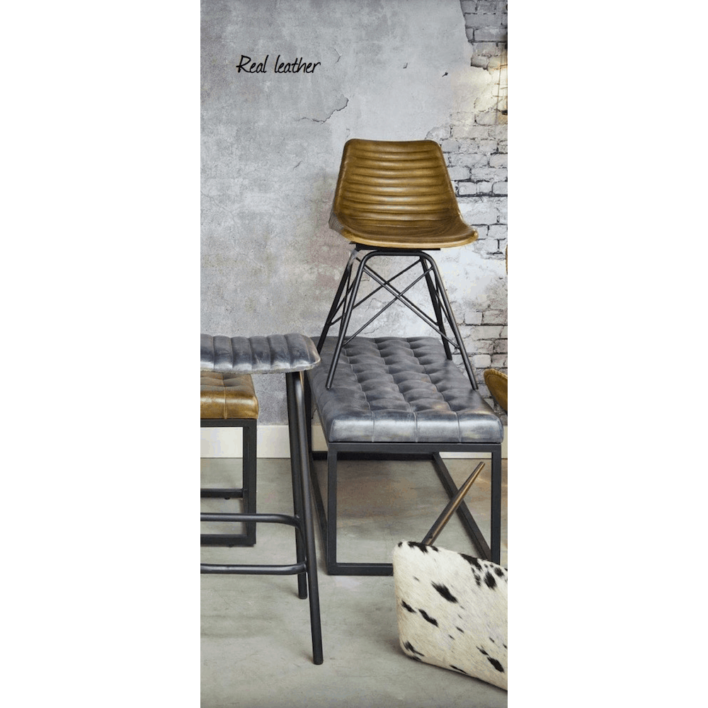 light living barhocker carrow leder grau gutraum8. Black Bedroom Furniture Sets. Home Design Ideas
