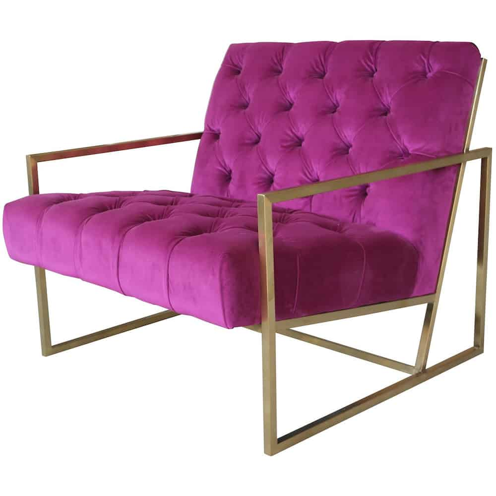 Loungesessel Club Velvet Cyclam Gold Sessel Samt Gutraum8