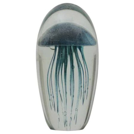 Ornament JELLYFISH Blaue Qualle im Glas von Light & Living