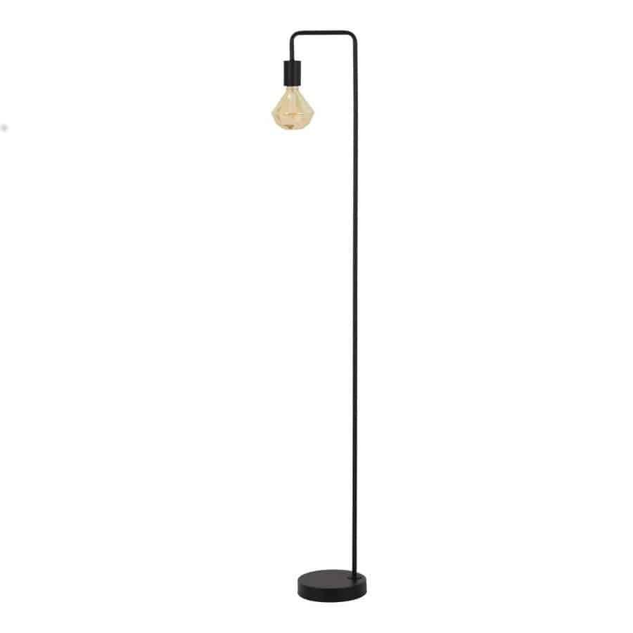 Stehleuchte CODY matt Schwarz mit dekorativen Leuchtmittel von Light & Living