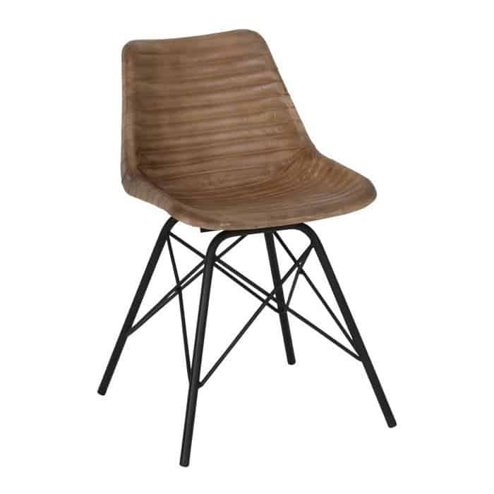 light living esszimmerstuhl seldon leder braun gutraum8. Black Bedroom Furniture Sets. Home Design Ideas