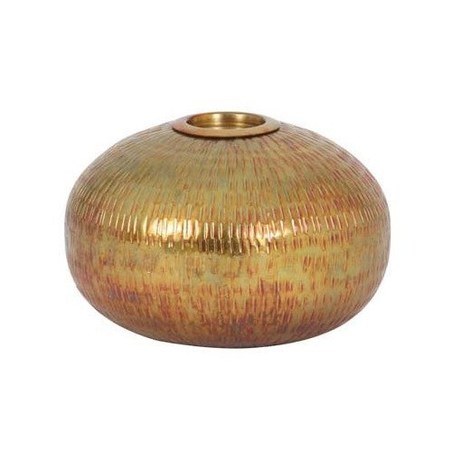 Teelichthalter RIBAS Bronze Regenbogen