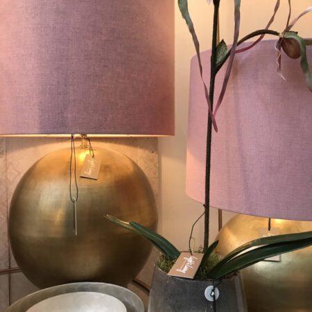 Tischlampe STRADO in Bronze Rosa von Light & Living
