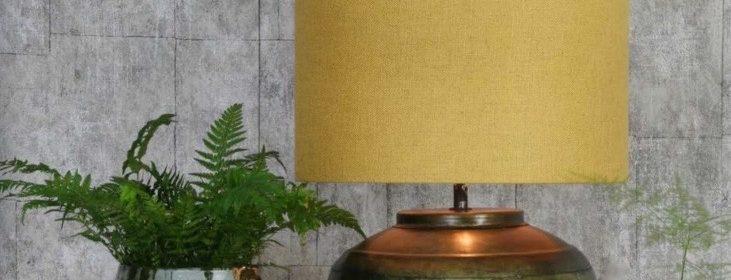 Tischlampe LYBA Antik Bronze trifft Ocker von Light & Living