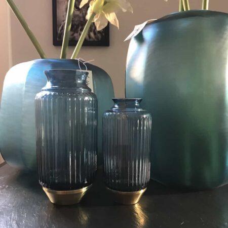 Vase Dekoration in Blau und Türkis