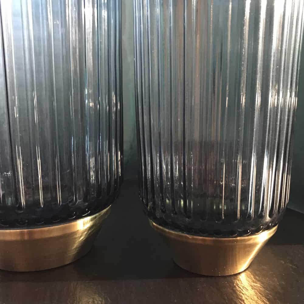 light living vase janeiro blau gold 10 5x21cm glas. Black Bedroom Furniture Sets. Home Design Ideas