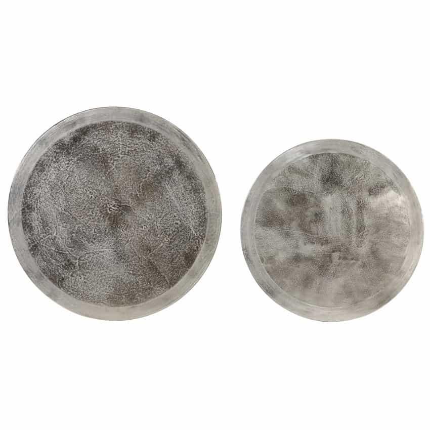 Light living couchtisch talca 2er set metall silber for Couchtisch silber