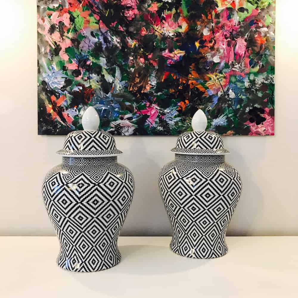 keramikdose temple diamond 25 x h43 cm gutraum8 vorratsdose. Black Bedroom Furniture Sets. Home Design Ideas