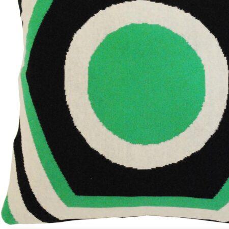 Kissen SUMMERHOUSE schwarz-weiss-grün