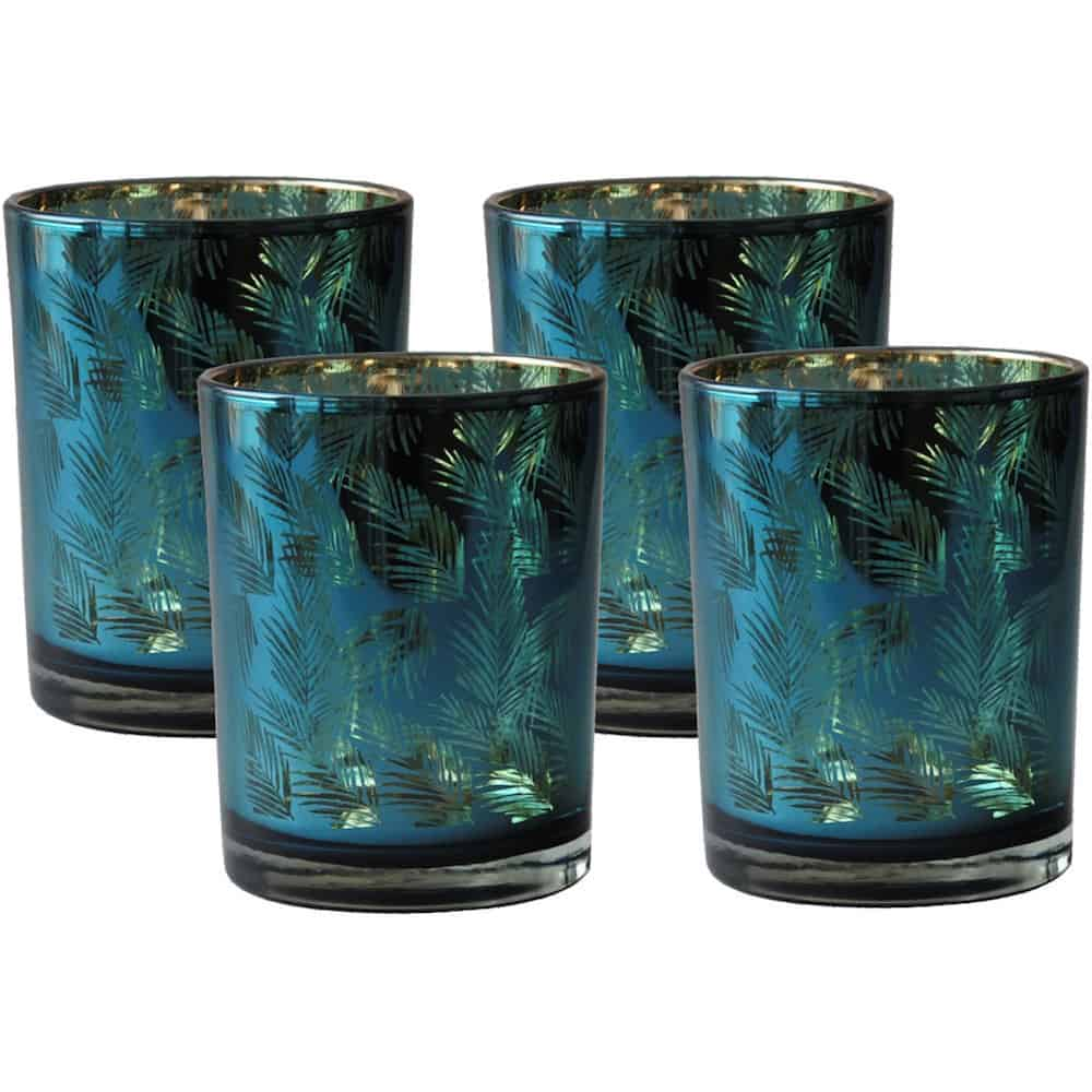 Teelichthalter PACIFIC OCEAN, Van Roon Living - grün gold Glas