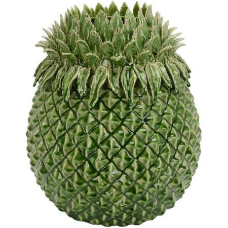 Vase PINE Ananas aus Keramik in grün von Van Roon Living