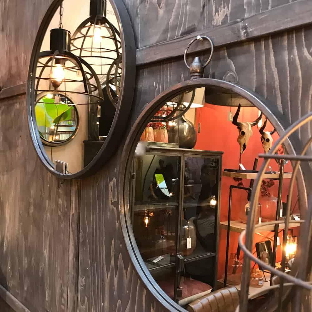 spiegel great zink 62 cm gutraum8 wohnaccessoires. Black Bedroom Furniture Sets. Home Design Ideas