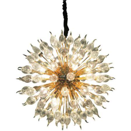 Hängeleuchte AQUARIUS Gold + Glas - Ø80 cm von Van Roon Living