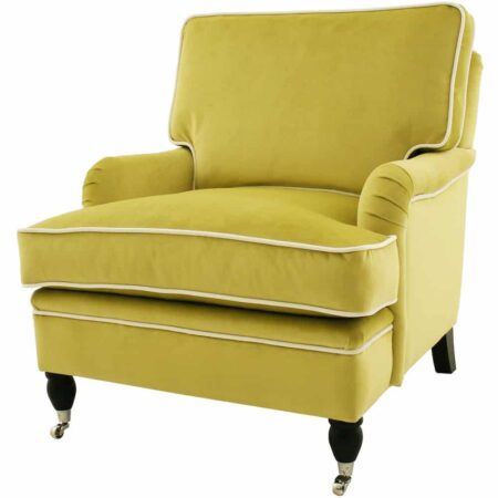 Sessel Armlehnstuhl DAMARIS Armlehnstuhl in gelb von Van Roon Living
