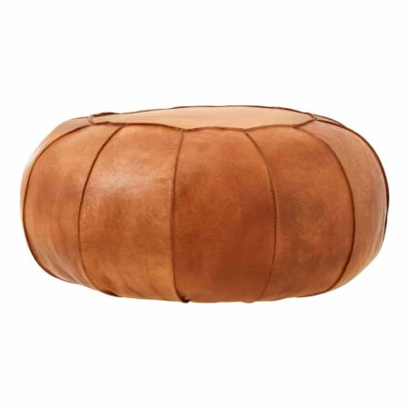 Sitzpouf BUFFALO braun Leder, Kollektion von Fifty Five South