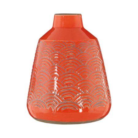 Vase DALTA orange Vintage von Fifty Five South