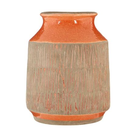 Vase SULU orange Vintage, Ø15 x H19 cm - von Fifty Five South