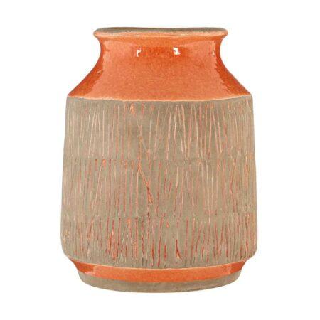 Vase SULU orange Vintage, Ø15 xH19 cm - von Fifty Five South