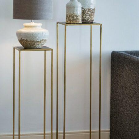 Beistelltisch 2er-Set BOCA von Light & Living in gold und matt schwarz