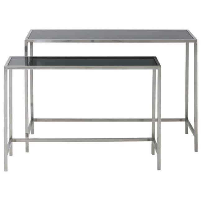 light living konsolentisch fox metall glas silber gutraum8. Black Bedroom Furniture Sets. Home Design Ideas