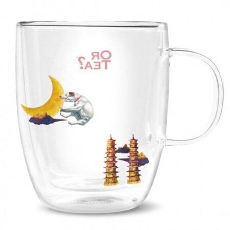 Or Tea? Teeglas mit Motiv Hund Terrier und Türme