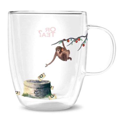 Or Tea? Teeglas mit Motiv Affe